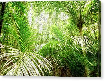 Jungle Abstract 1 Canvas Print by Les Cunliffe