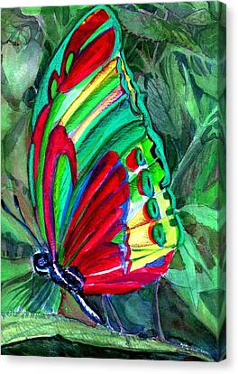 Jungle Butterfly Canvas Print by Mindy Newman