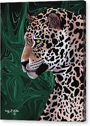Jungle Cat Canvas Print by Courtney Britton