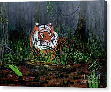Jungle Cat Canvas Print by Myrna Walsh