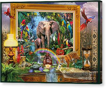 Jungle Coming Canvas Print by Jan Patrik Krasny