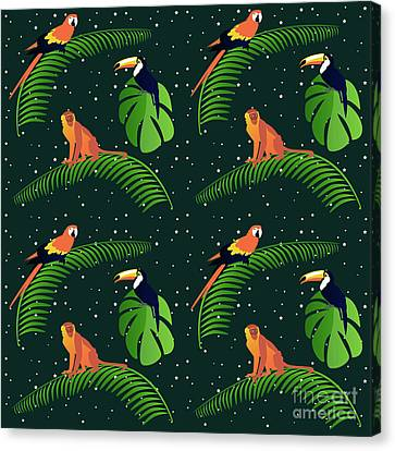 Toucan Canvas Print - Jungle Fever by Claire Huntley