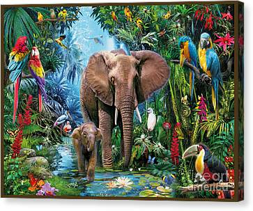 Lush Colors Canvas Print - Jungle by Jan Patrik Krasny