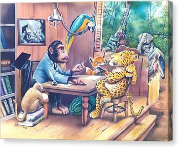 Jungle Lawyer Canvas Print by Tuvia Kurz