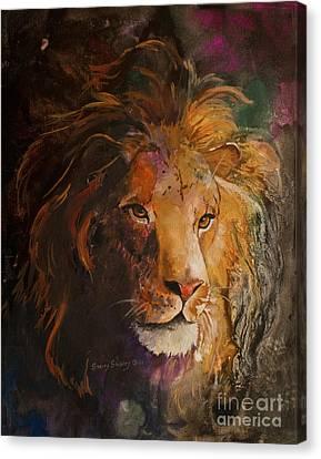 Jungle Lion Canvas Print by Sherry Shipley