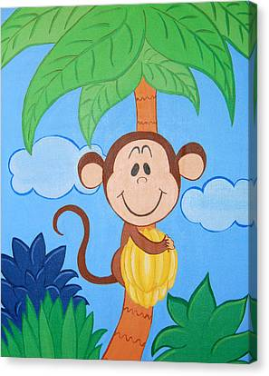 Jungle Monkey Canvas Print