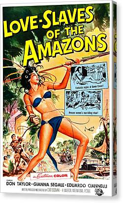 Jungle Movie Poster 1957 Canvas Print by Padre Art