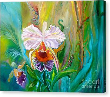 Jungle Orchid Canvas Print by Jenny Lee