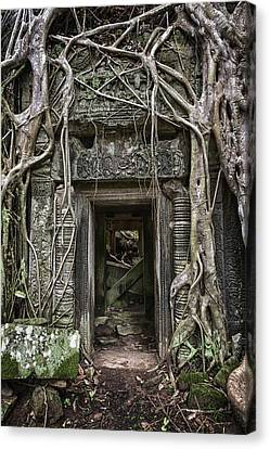 Jungle Temple Door #1 Canvas Print
