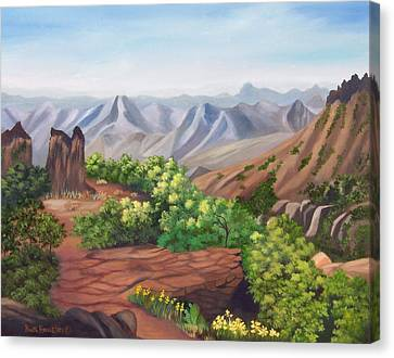 Juniper Canyon   Lost Mine Trail Canvas Print by Ruth  Housley