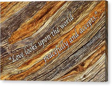 Earth Tones Canvas Print - Juniper Texture - Love by ABeautifulSky Photography by Bill Caldwell