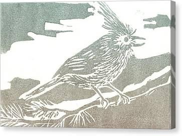 Juniper Titmouse Canvas Print