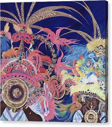 Junkanoo Canvas Print by Danielle  Perry