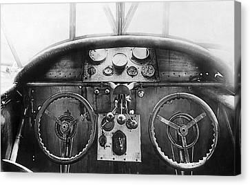 Junker Plane Cockpit Canvas Print by Underwood Archives