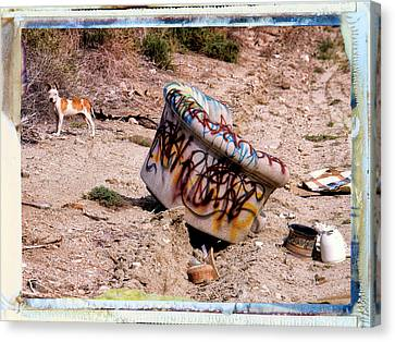 Junkyard Dog Canvas Print by Dominic Piperata