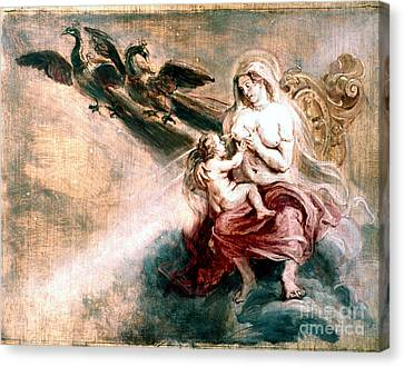 Juno Suckling Hercules Canvas Print by Granger