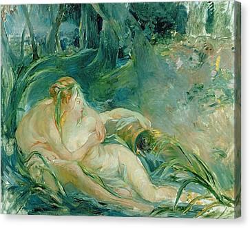 Jupiter And Callisto Canvas Print by Berthe Morisot
