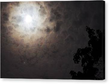 Jupiter And The Moon Canvas Print by Don Youngclaus