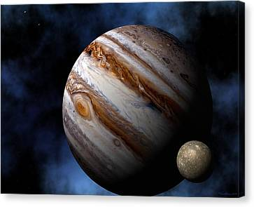 Solar Canvas Print - Jupiter by David Robinson