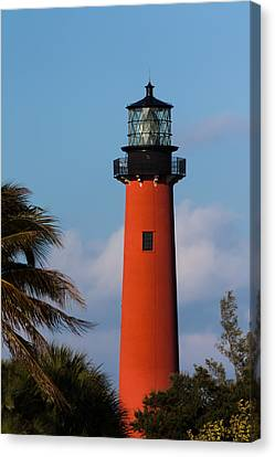 Jupiter Inlet Lighthouse Canvas Print by Ed Gleichman