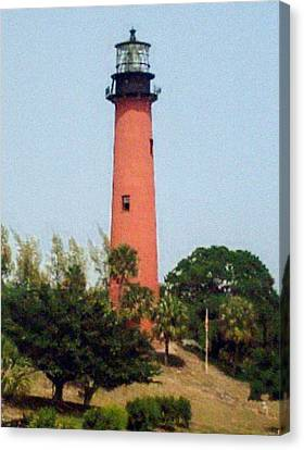 Canvas Print featuring the photograph Jupiter Inlet Lighthouse by Frederic Kohli
