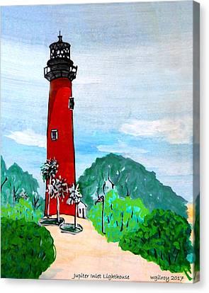 Jupiter Inlet Lighthouse Canvas Print by W Gilroy