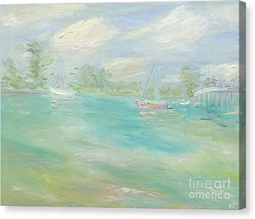 Jupiter Intra-coastal Canvas Print by Barbara Anna Knauf