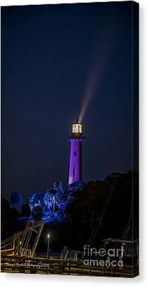 Jupiter Lighthouse At Night Canvas Print by Nancy L Marshall