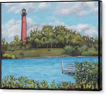 Jupiter Lighthouse Canvas Print by Edward Williams