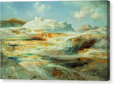 Jupiter Terrace  Yellowstone Canvas Print by Thomas Moran