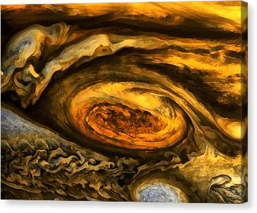 Jupiter's Storms. Canvas Print
