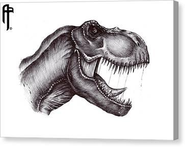 Jurassic Park Tyrannosaurus-rex Canvas Print by Aram Papazyan