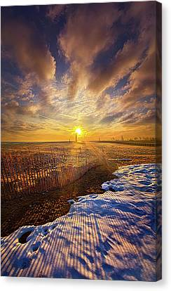 Canvas Print featuring the photograph Just A Bit More To Go by Phil Koch