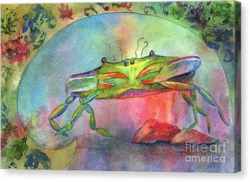 Just A Little Crabby Canvas Print by Amy Kirkpatrick