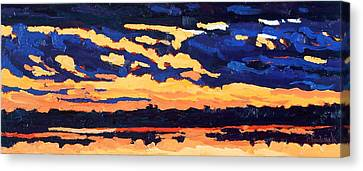 Just Another November Sunset Canvas Print by Phil Chadwick