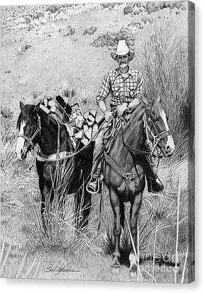 Just Another Western Workday Canvas Print