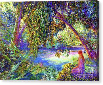 Weeping Willow Canvas Print - Just Be by Jane Small