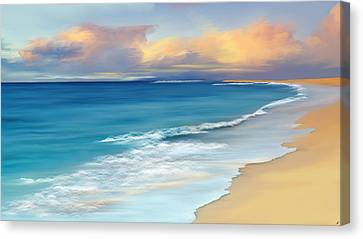Tropical Beach Canvas Print - Just Beachy by Anthony Fishburne