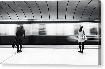 Just Before Leaving Canvas Print by Gerard Jonkman