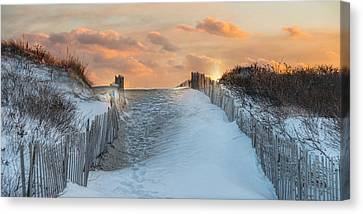 Canvas Print featuring the photograph Just Beyond by Robin-Lee Vieira