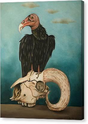 Just Bones Canvas Print by Leah Saulnier The Painting Maniac