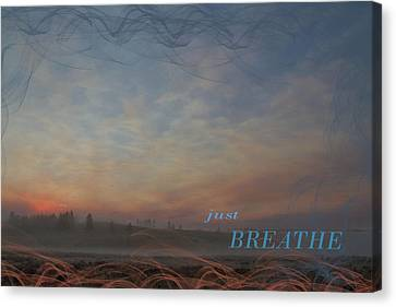 Just Breathe Canvas Print by Nadine Berg
