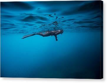 Apnea Canvas Print - Breathe 2 by One ocean One breath