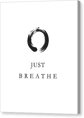 Relax Canvas Print - Just Breathe by Studio Grafiikka