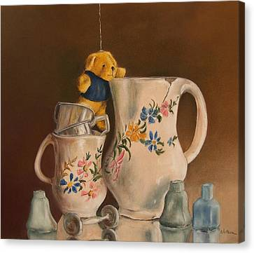Canvas Print featuring the painting Just Hanging Around by Ceci Watson
