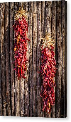 Chile Canvas Print - Just Hanging Around - New Mexico Chile Ristra Photograph by Duane Miller