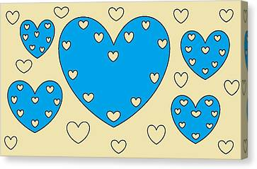 Just Hearts 4 Canvas Print