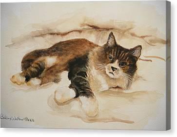 Just Kitty Canvas Print