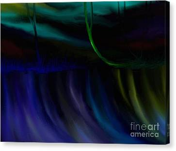 Canvas Print featuring the painting Just Like A Waterfall by Rushan Ruzaick