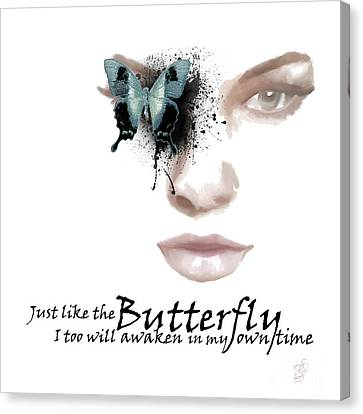 Just Like The Butterfly Canvas Print